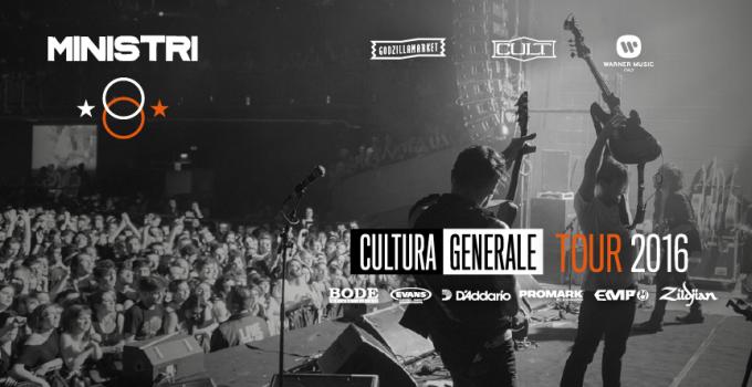 MINISTRI - CULTURA GENERALE TOUR ESTIVO 2016 - Primo Maggio di Taranto, Miami, Sziget e le prime date confermate